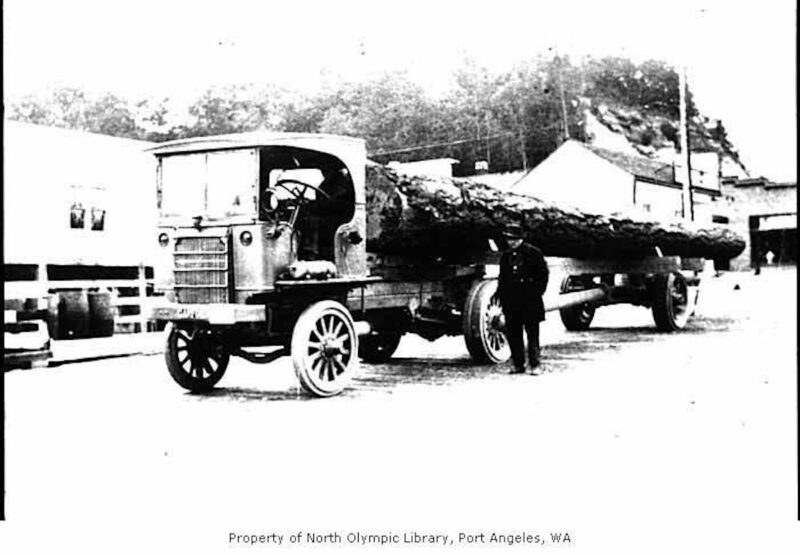 1919 Garford logging truck, Charles Fox and Sons log truck in Port Angeles