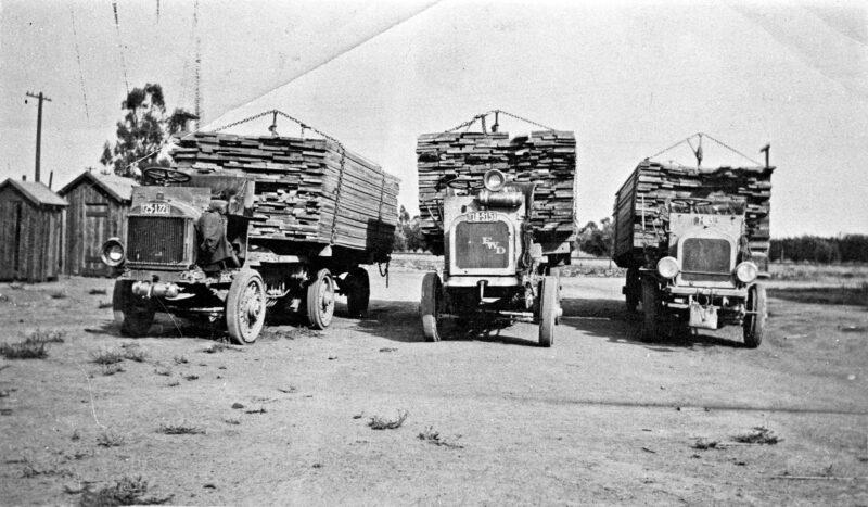 1920 Lumber trucks.