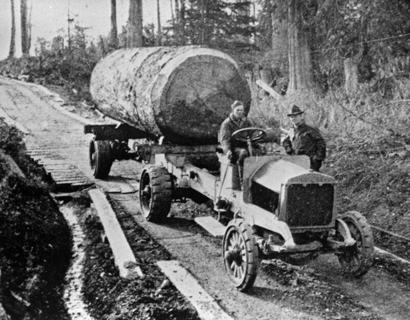 1920 Early Diamond T logging truck.