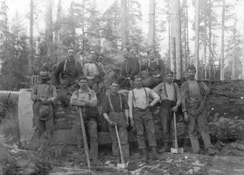 1900 Loggers near Still Creek, BC.