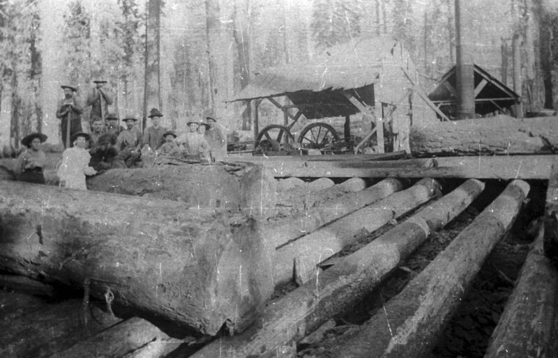 1900 Log transfer landing.