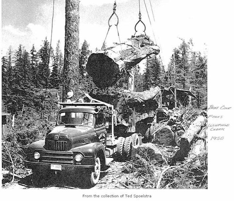 1950, Bert Cole, Forks, Winfield Creek