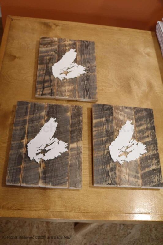 wood map of cape breton