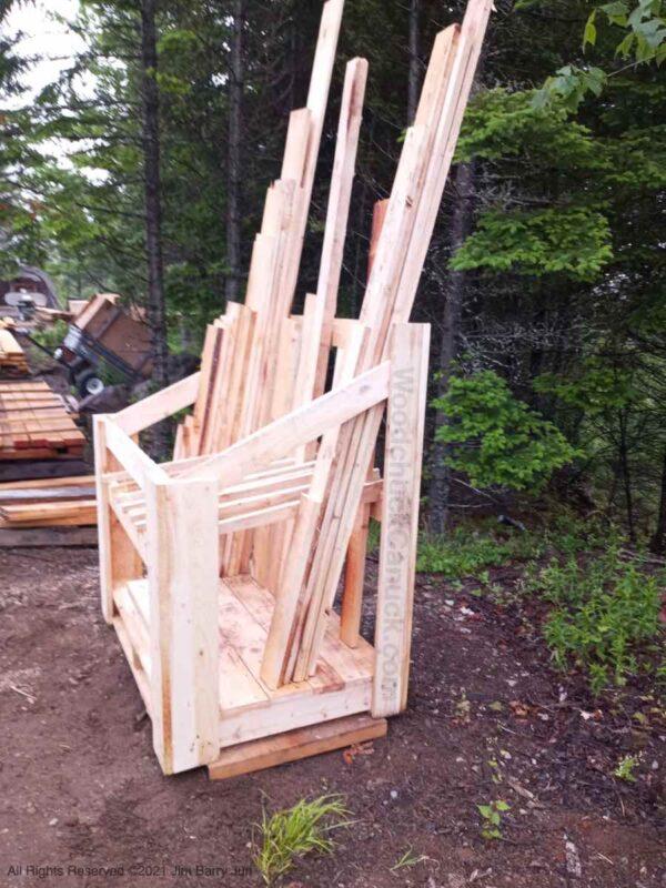 Sawmilling rough lumber in Antigonish County and Guysborough County, Nova Scotia.