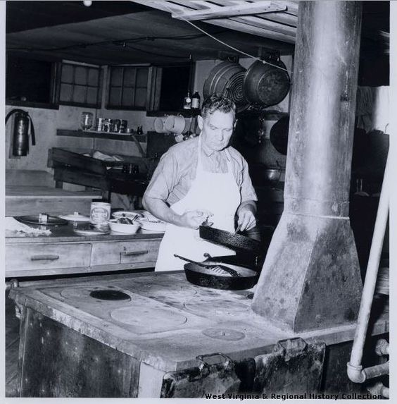 1910 Kitchen of the dining hall at Meadow River Lumber Company.