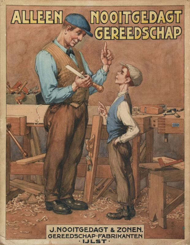 Dutch Carpenter teaching his apprentice.