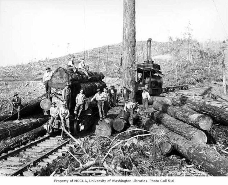 1930 Clemons Logging Company, near Melbourne.