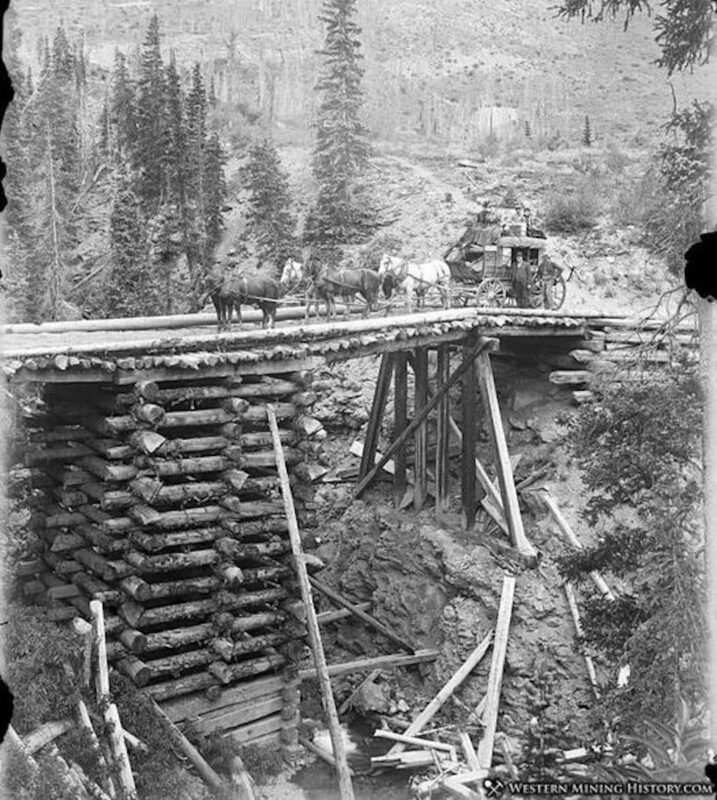 1890s High bridge on the Ouray Stage Line.