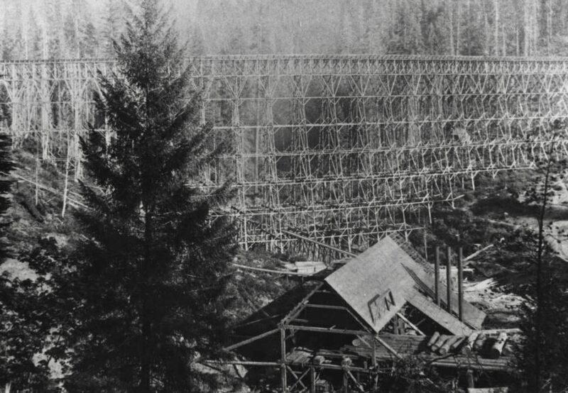 1900 A. M. Leach Flume and Owl Gulch Mill.