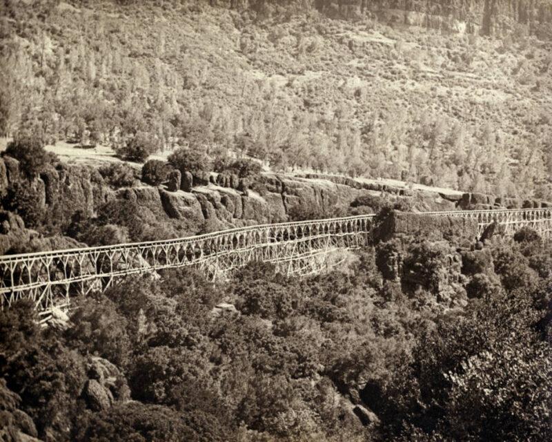 1900 Sierra Lumber Company flume.