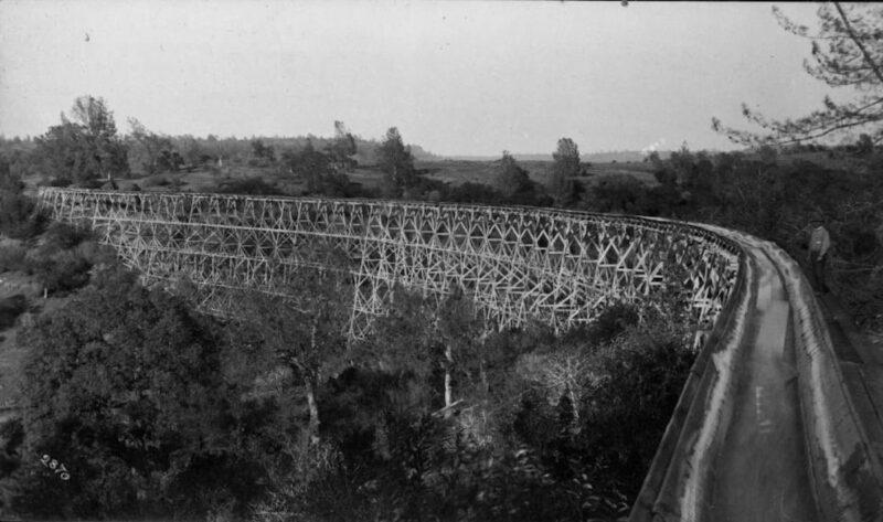 1890 Sierra Lumber Co. flume.