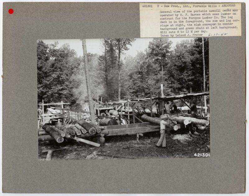 1942 U-Saw Prod., Lbr., portable mills - Arkansas