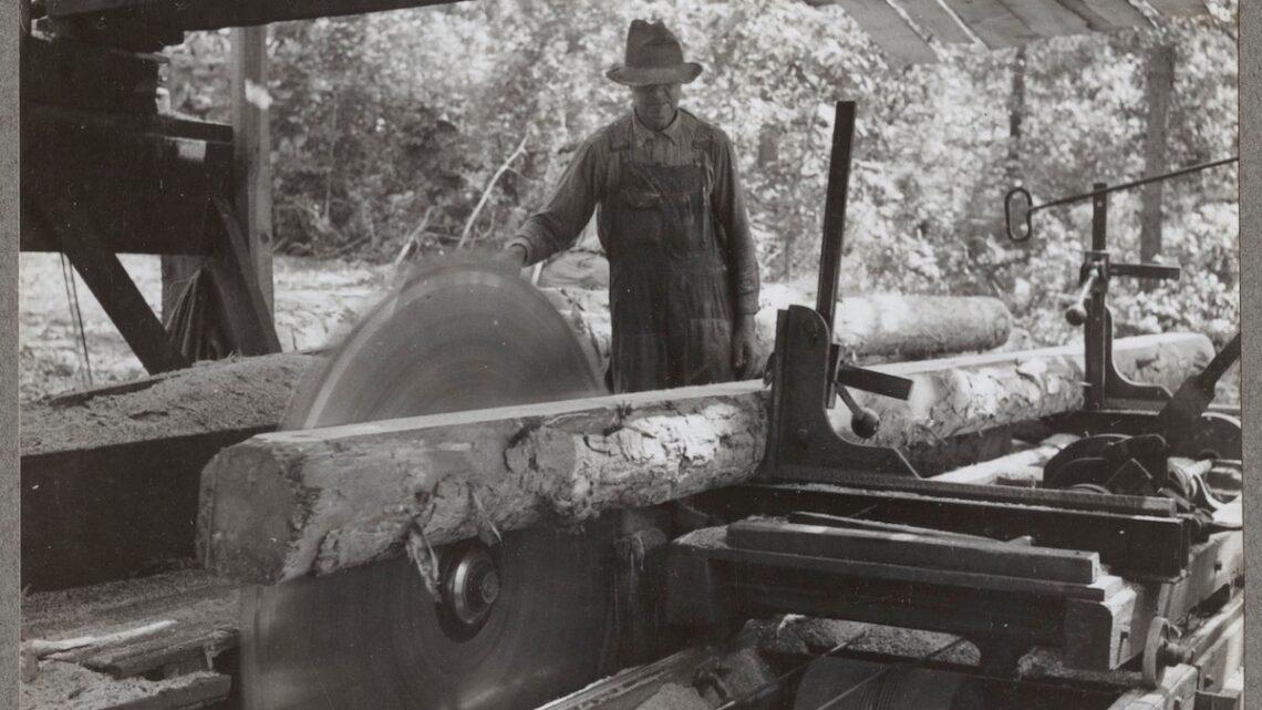 1938 Mr J.C. Sawyer at Clarksville, Arkansas