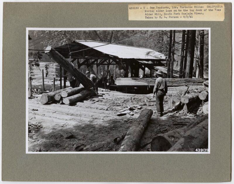 1941 Voss Alder Mill, South Fork Gualala River, California