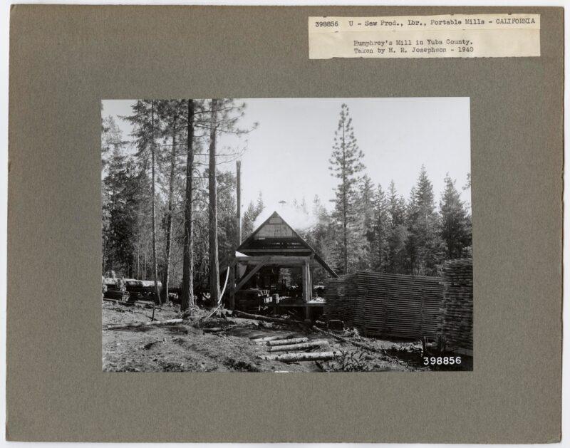 1940 Humphrey's Mill, Yuba County, California