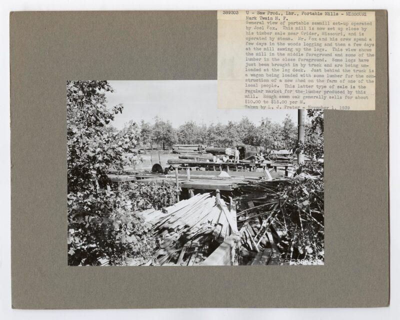 1939 U-Saw Prod., Lbr., portable mills Missouri