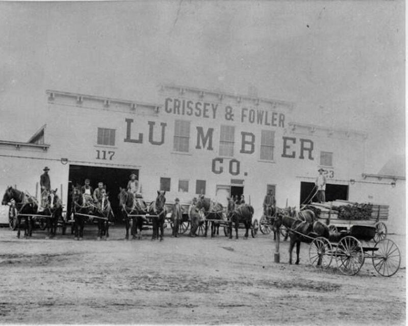 1900, Crissey Fowler Lumber Co., Colorado Springs, Colorado.
