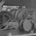 1945 Pacific Mills' donkey engine on the Queen Charlotte Islands. (close up)