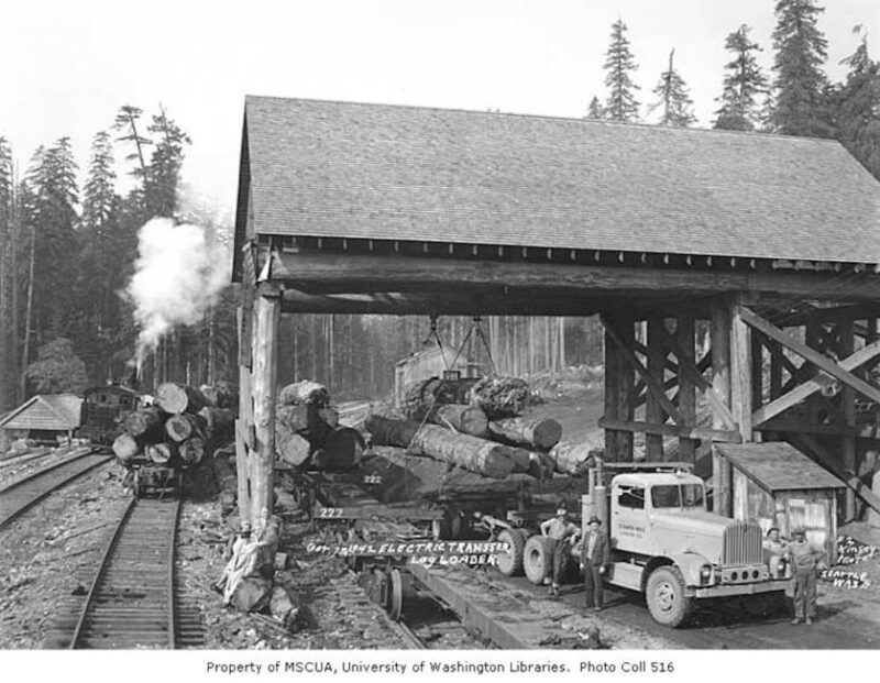 1942 Schafer Brothers Logging Company, Olympic Camp.
