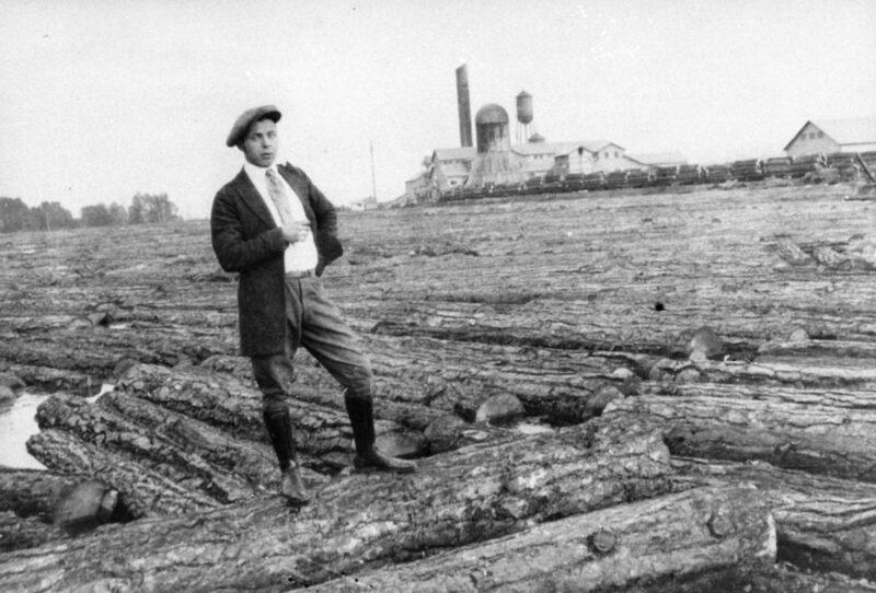 1923 Harry Zink at millpond.