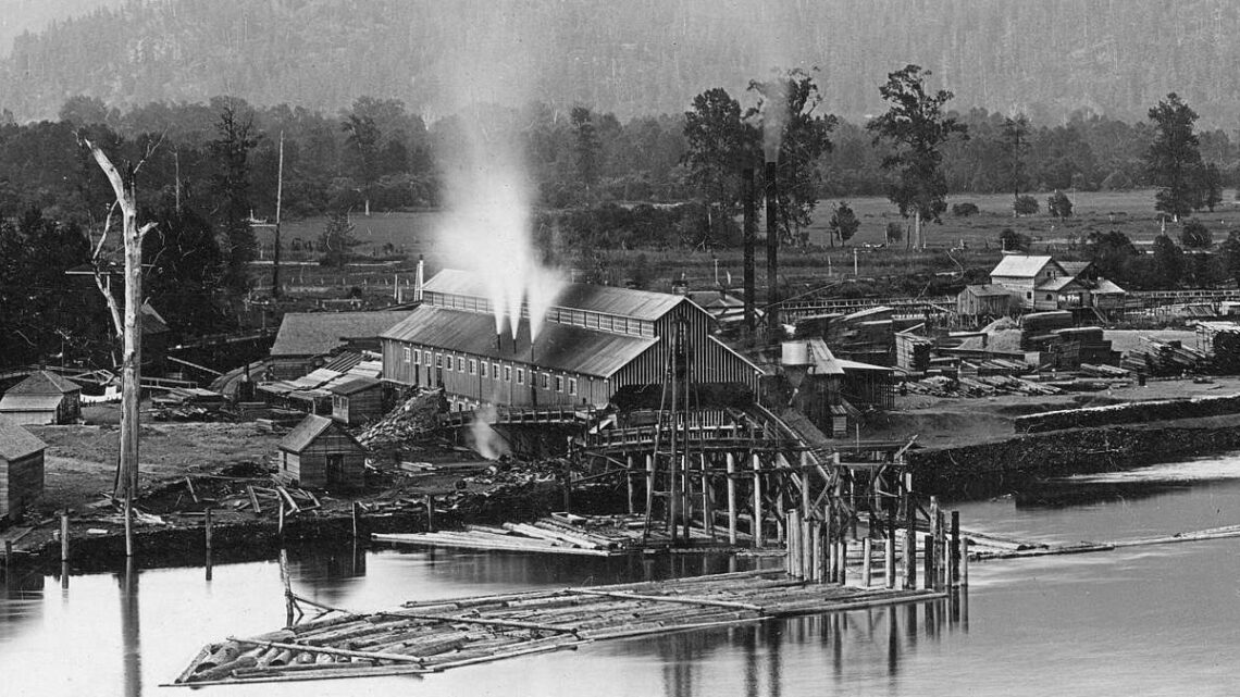 1903-1904 View of Harrison Mills (BC).
