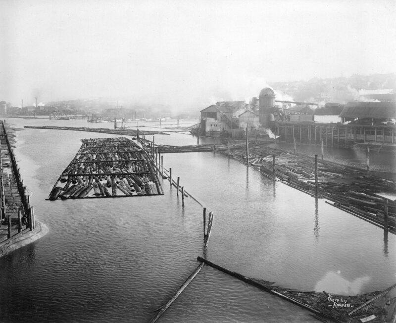 1916 East half Granville Island, Vancouver, before filling.
