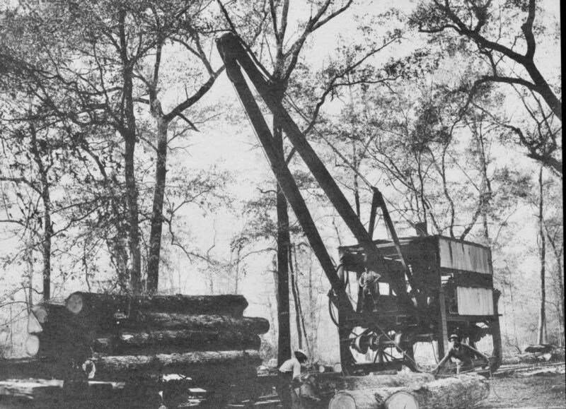 1907 McGiffert Log Loader in East Texas, USA