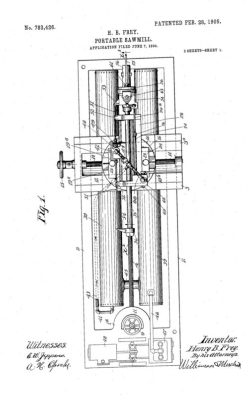 1905 Feb 28 Patent for Portable Sawmill