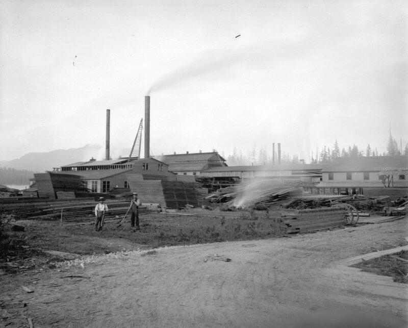 1900 Unidentified saw mill.