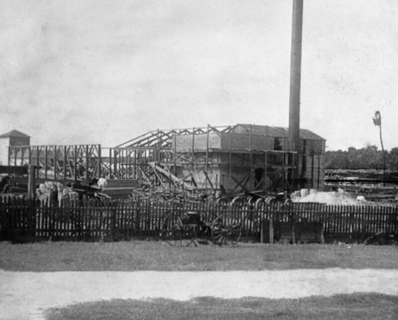 June 1910 - New construction following December 24, 1909 fire which destroyed the mill.