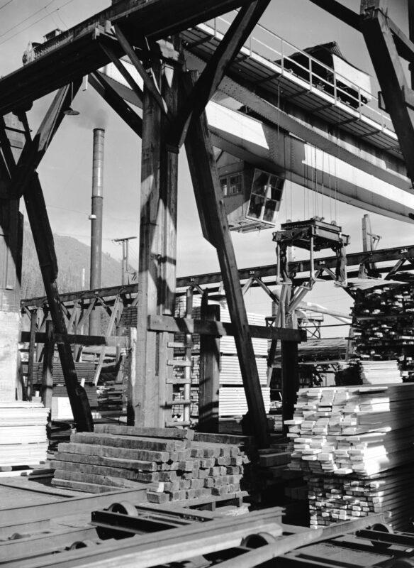 1940 Lumber yard at Youbou, B.C.